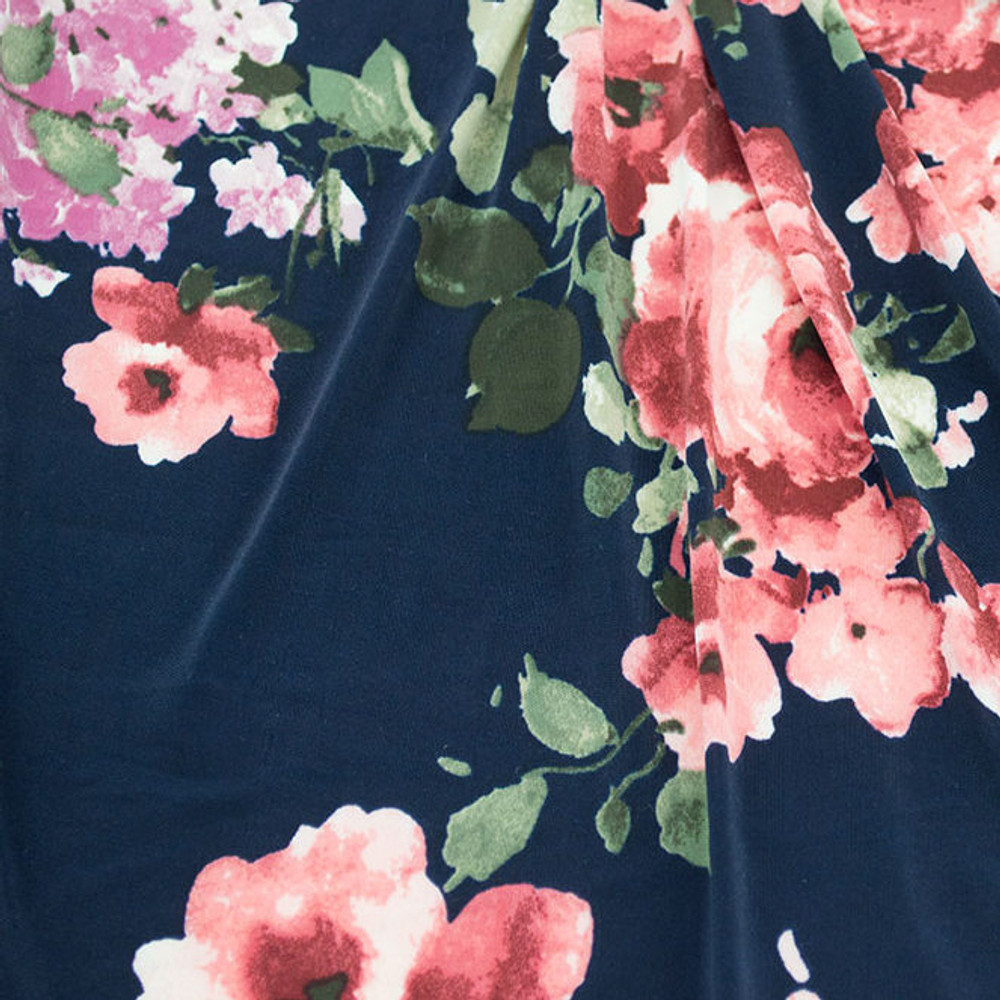 Navy floral ITY knit