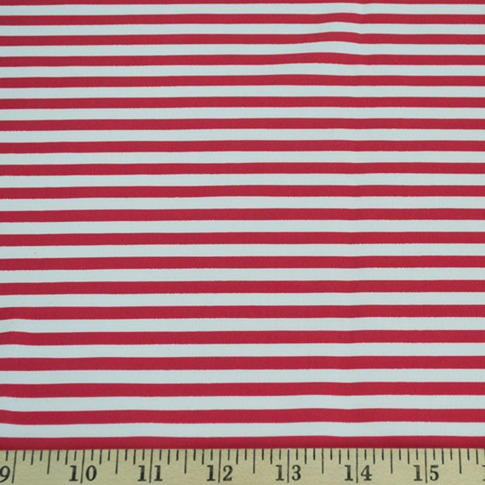 mini red and white striped knit