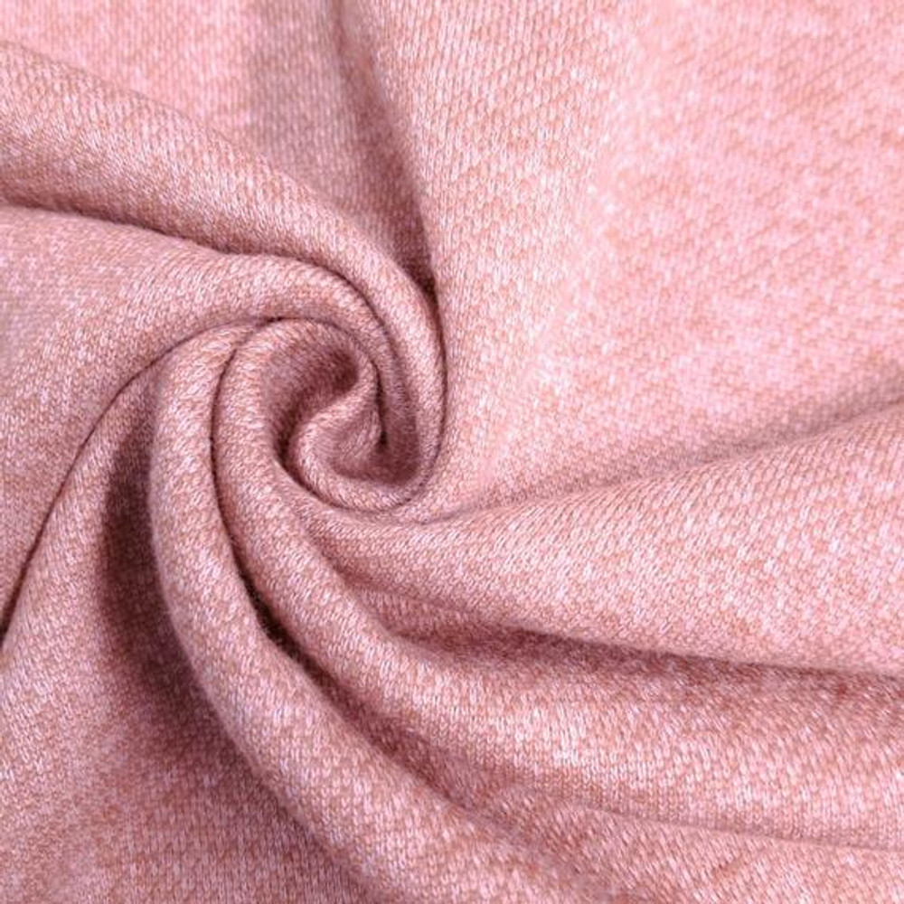 Dusty Pink French Terry Brushed Fleece