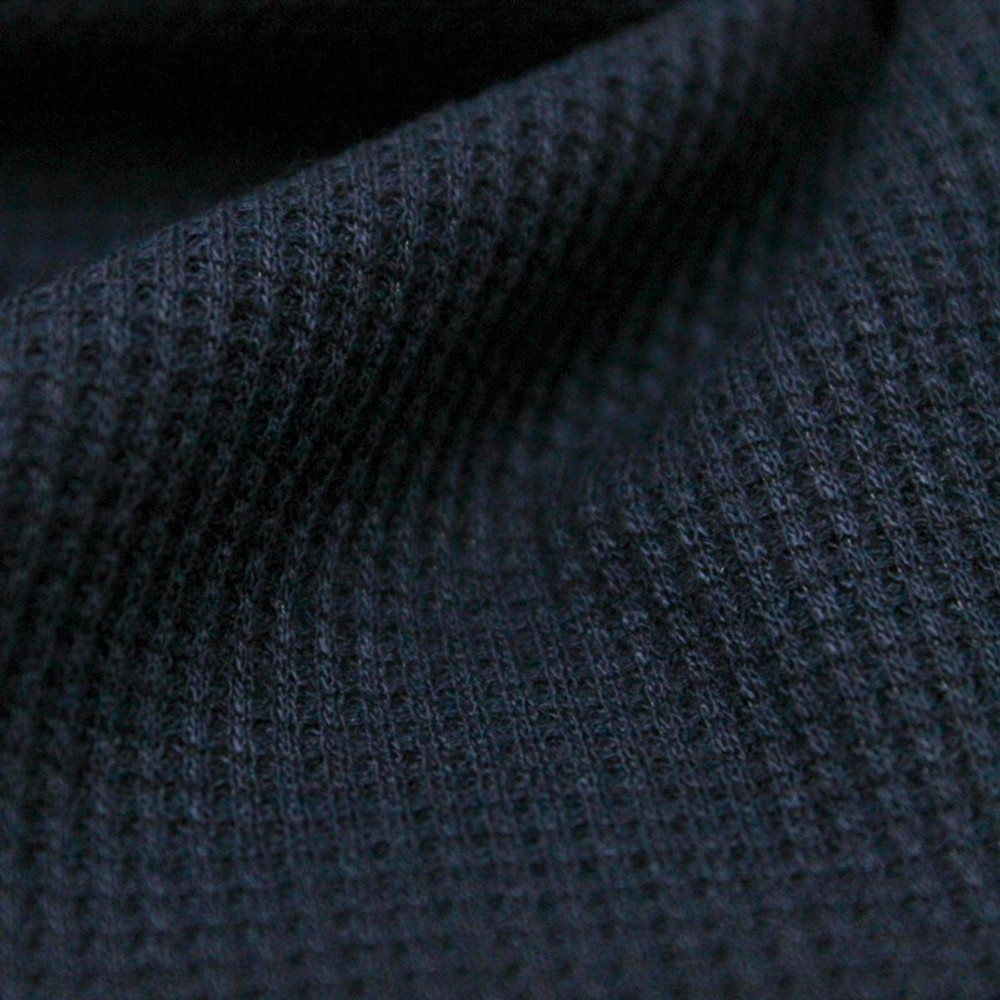 navy thermal knit fabric