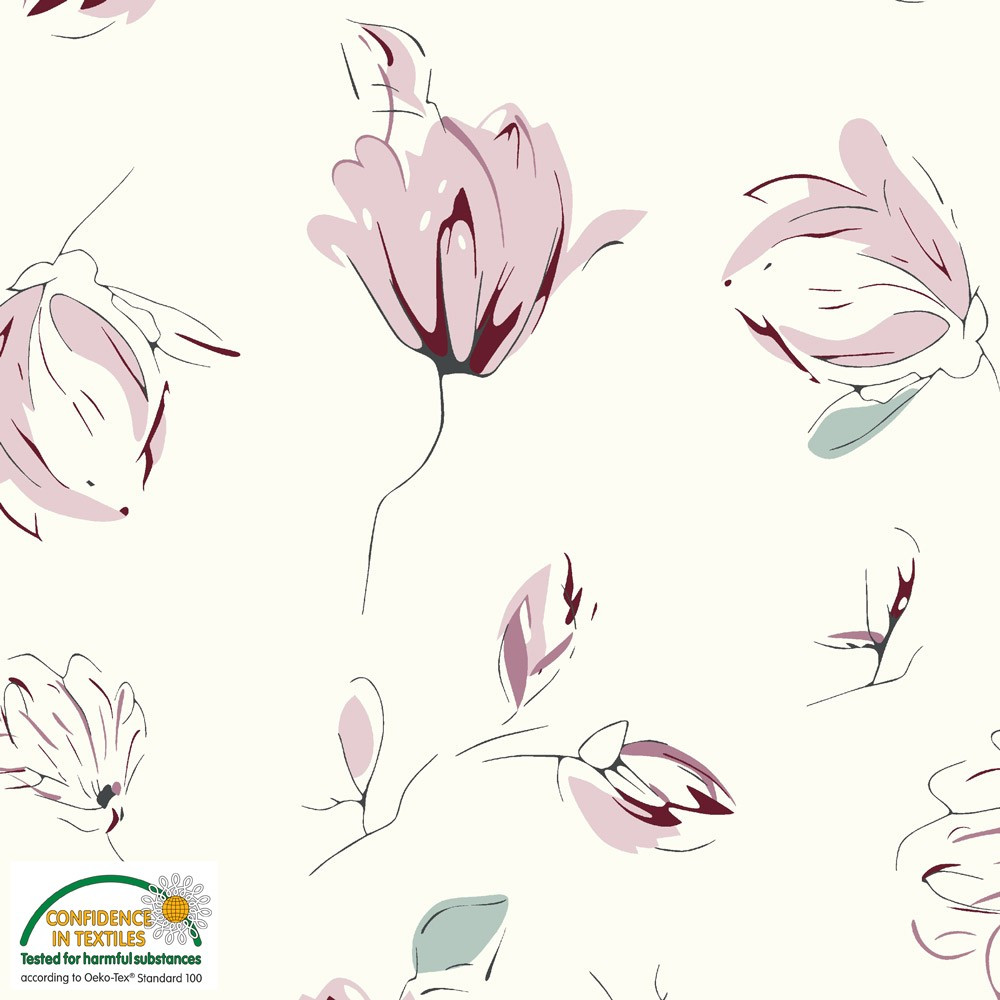 Stof Fabrics Delicate Floral Knit