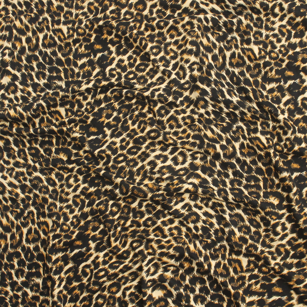 Leopard Double Brushed Poly