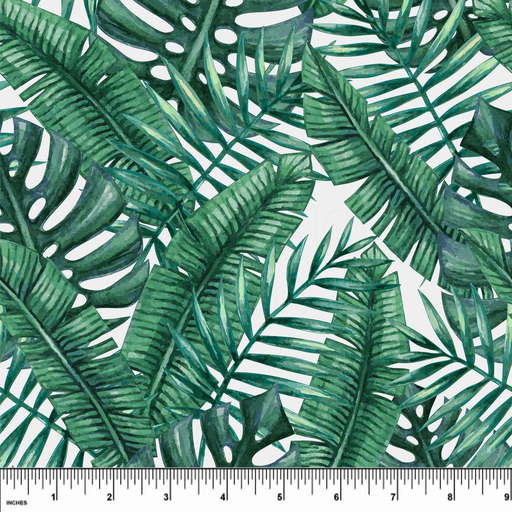 palm leaves board shorts fabric