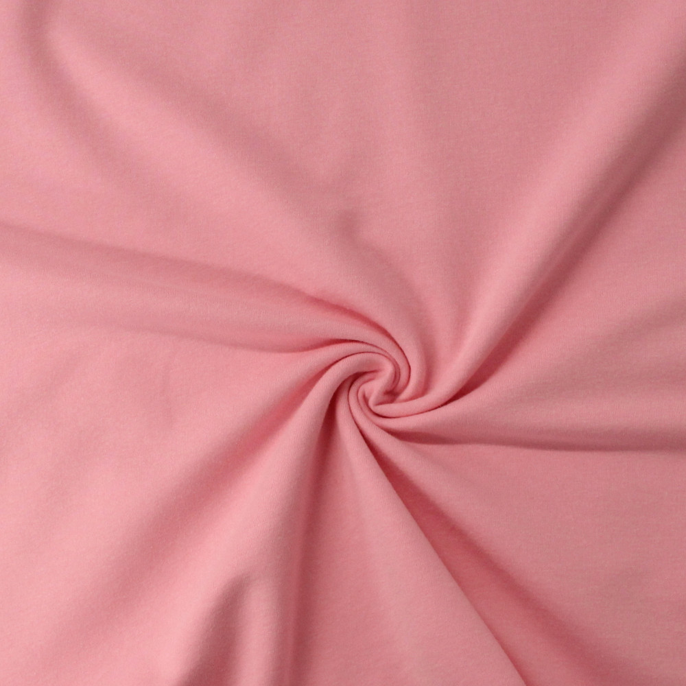 pink cotton lycra french terry