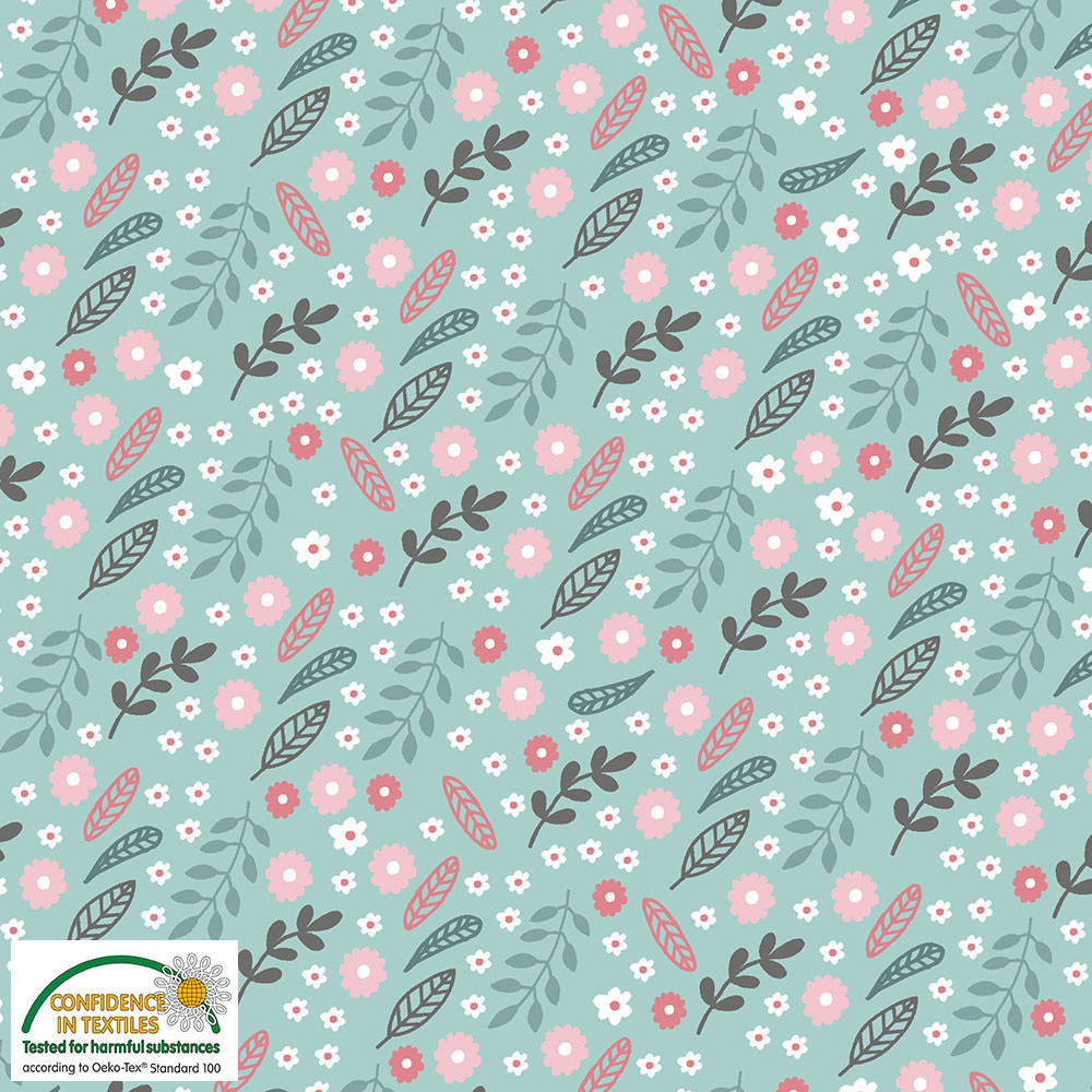 sweet floral on mint