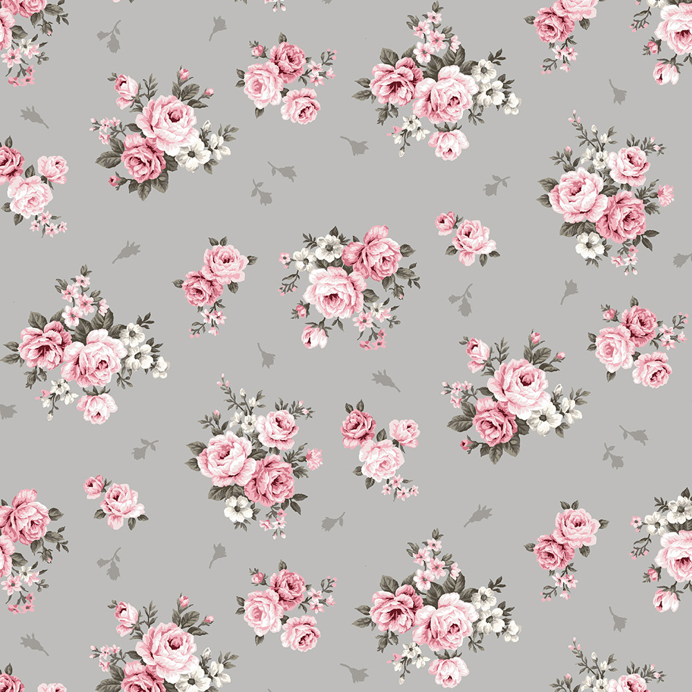 vintage roses on gray