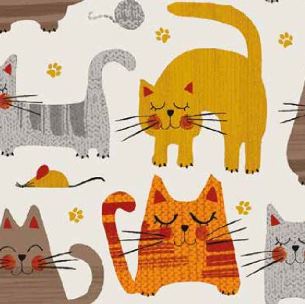 cats knit fabric