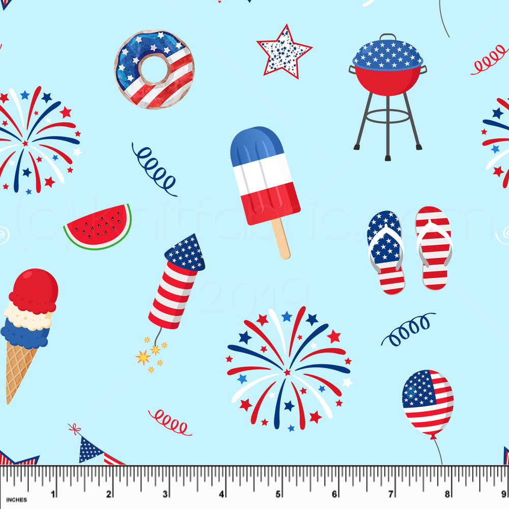 4th of july knit fabric