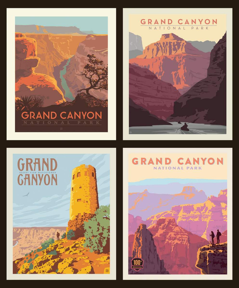 Grand Canyon National Parks Pillow Panel Quilting Cotton