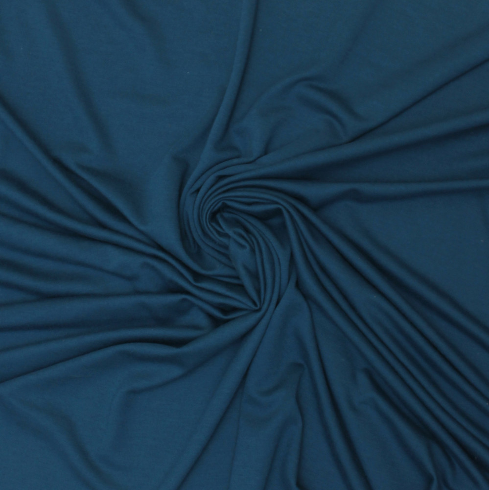 dark teal rayon lycra french terry