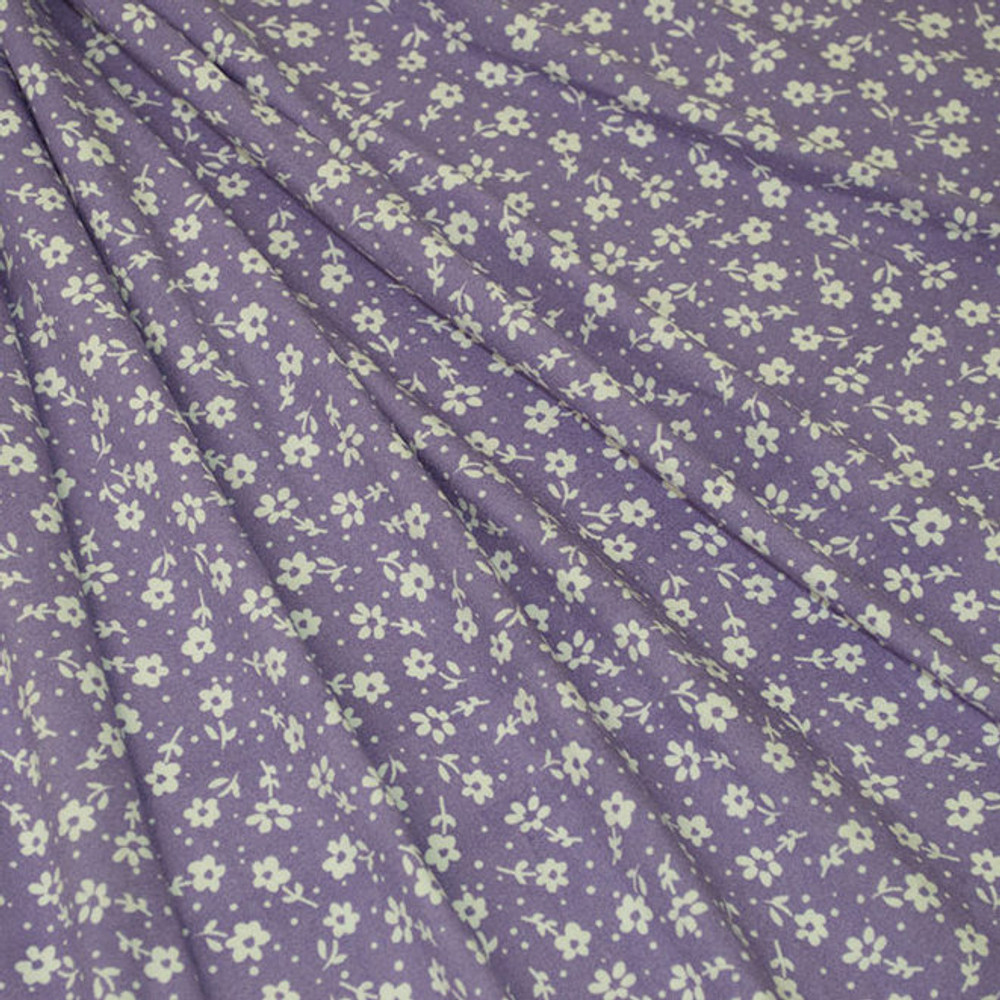 Lavender Mini Floral Double Brushed Poly