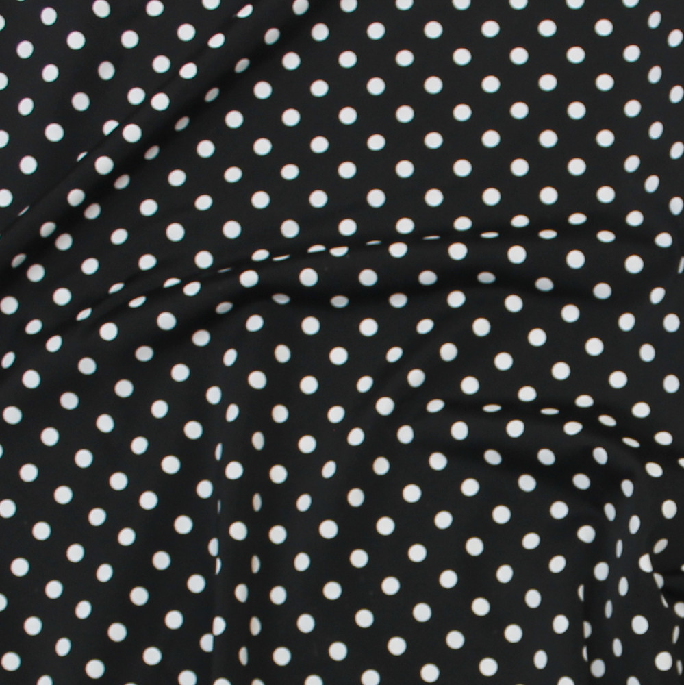 polka dots on black