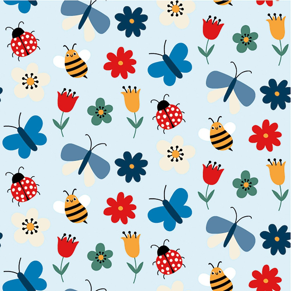 Busy Bees Cotton Lycra Knit