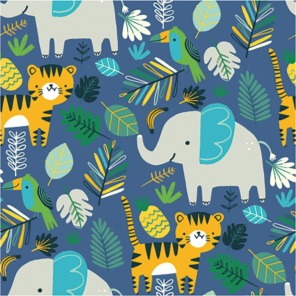 Jungle Animals French Terry