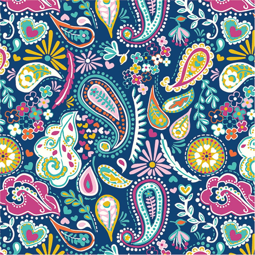 Navy Paisley French Terry