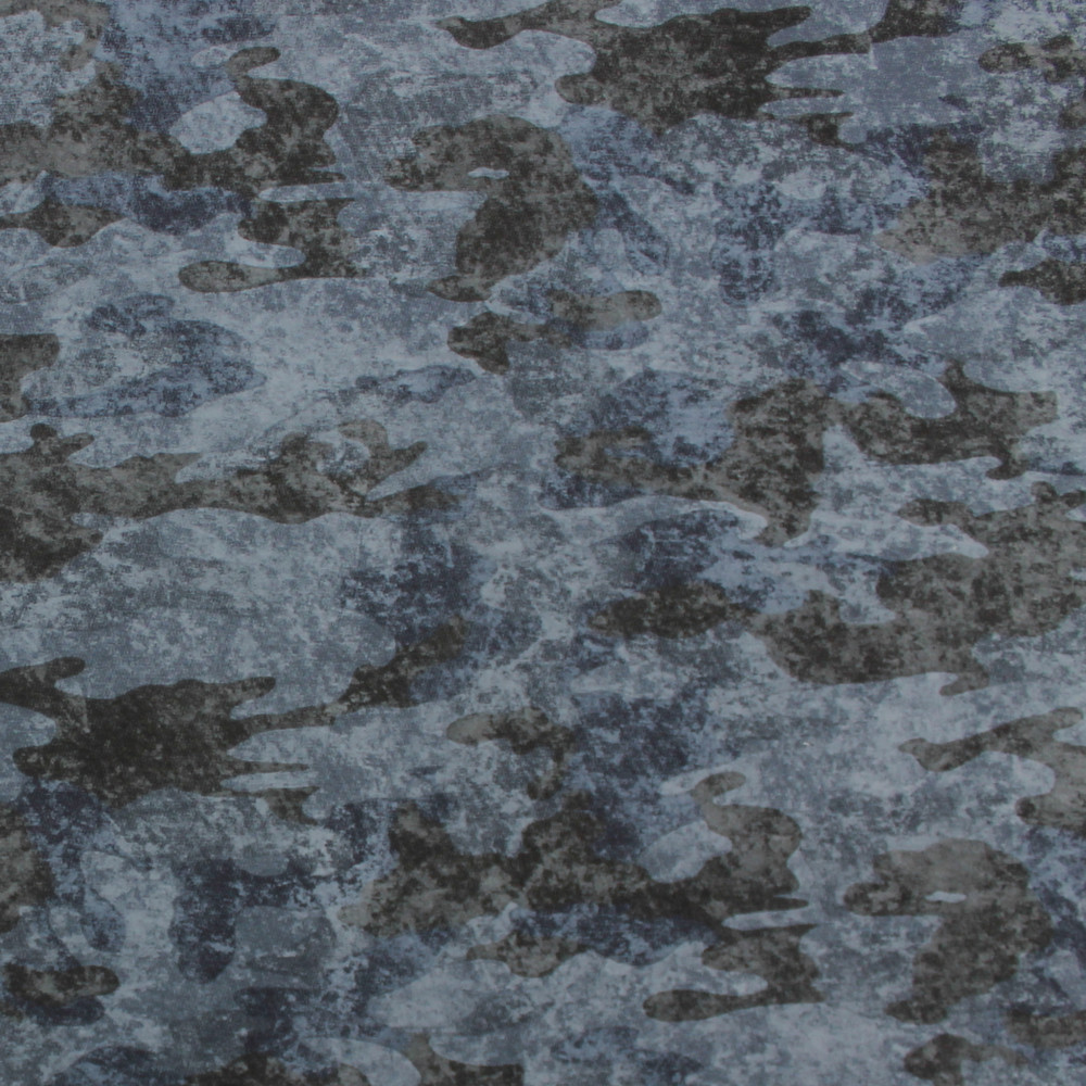 Blue Camouflage French Terry Knit