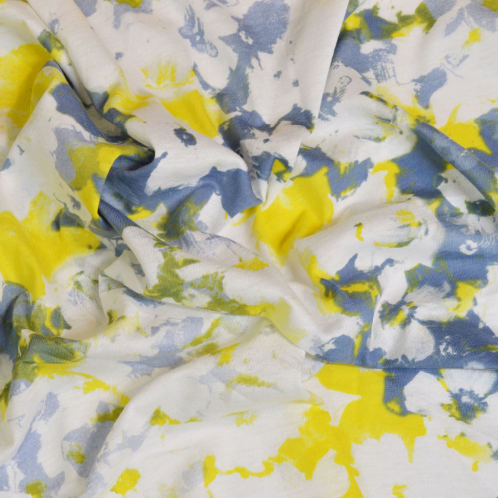yellow and blue floral