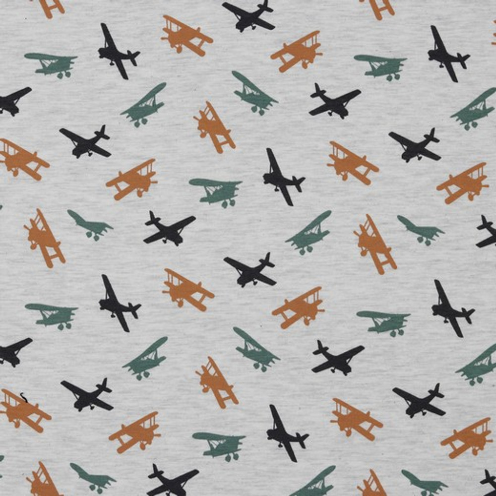 Airplanes on gray
