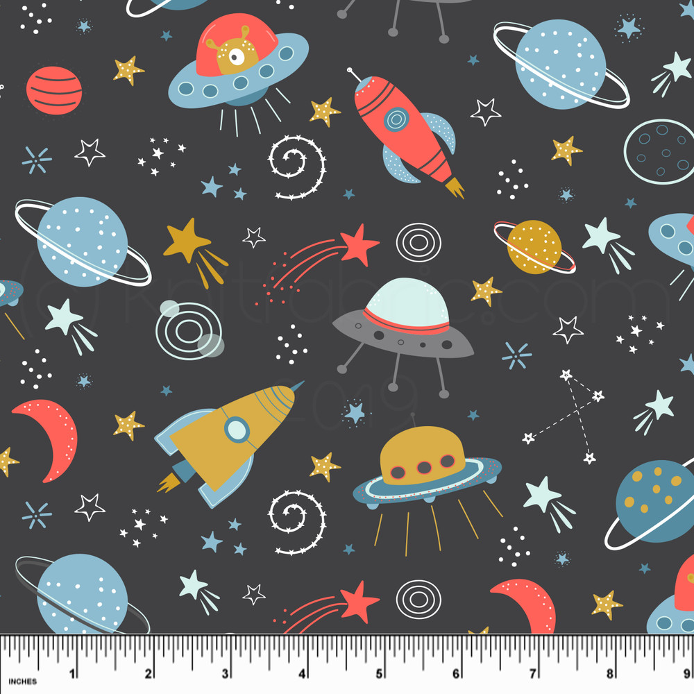 Custom Space Invaders Cotton Lycra Knit