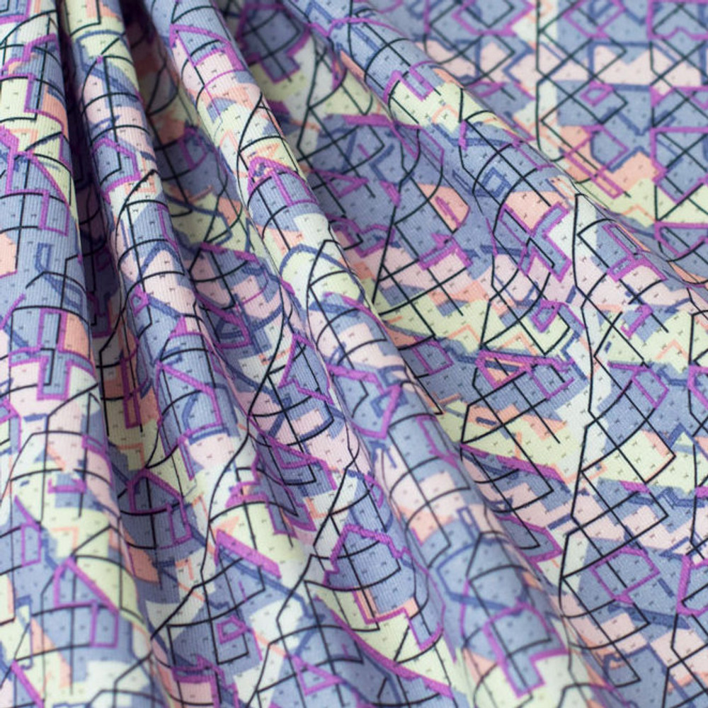purple and pink abstract swim
