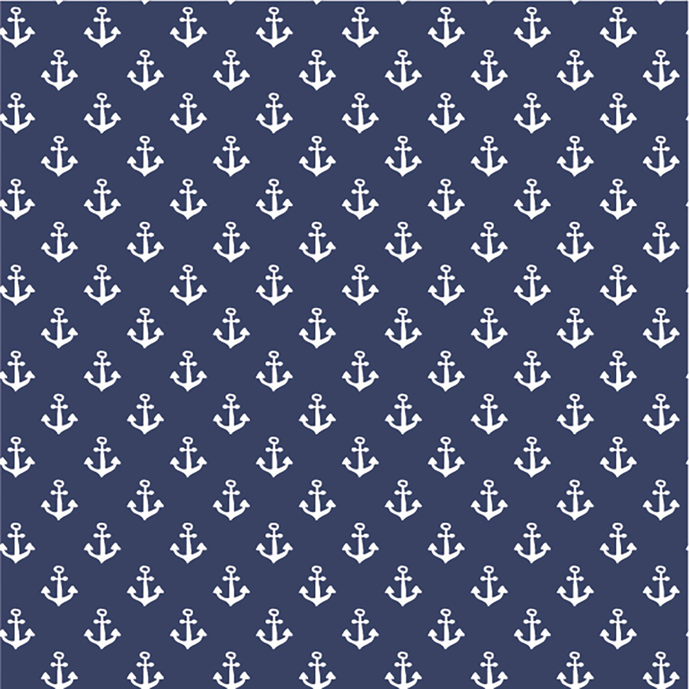 anchors white on navy
