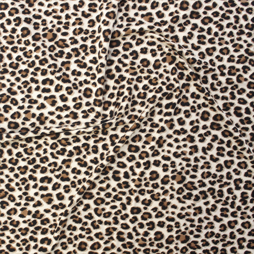 Leopard Spots Double Brushed Poly