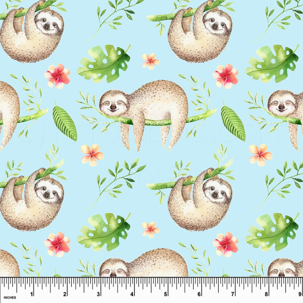 Swim Shop Blue Sloths Board Short Fabric