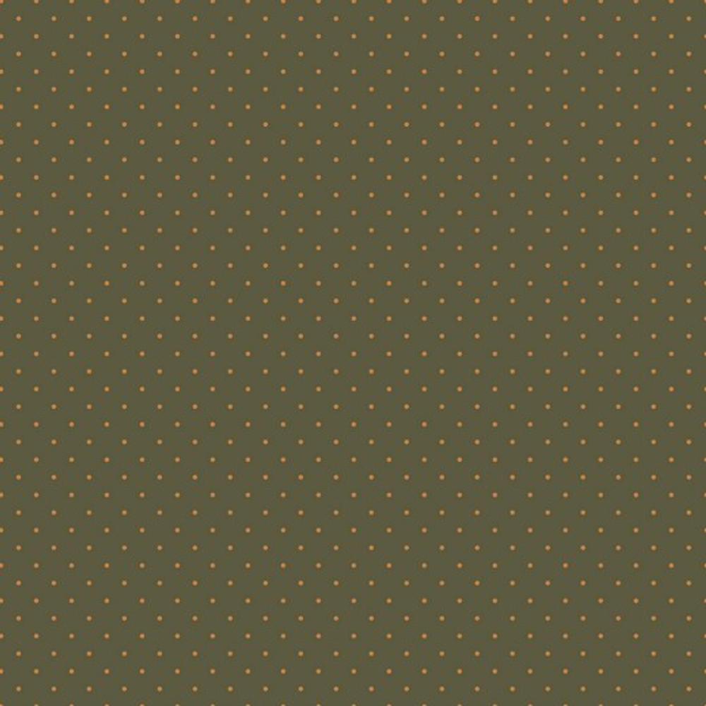 mustard pin dots on olive