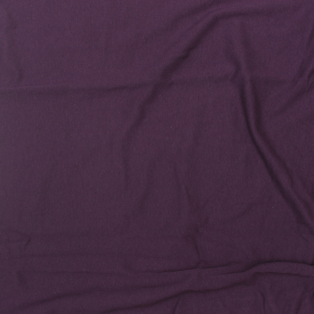Plum Cotton Lycra French Terry  Knit