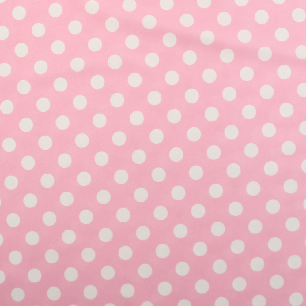 White Polka Dots on Light Pink Swim