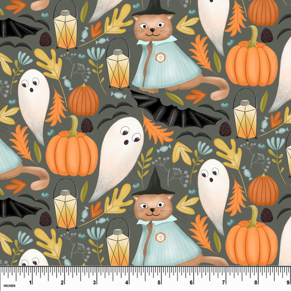 Custom Halloween Night Cotton Lycra Knit