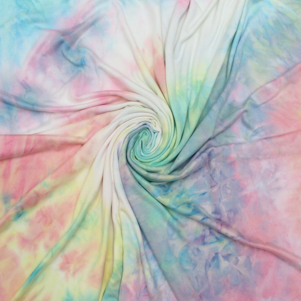 Rainbow Tie Dye Double Brushed Poly