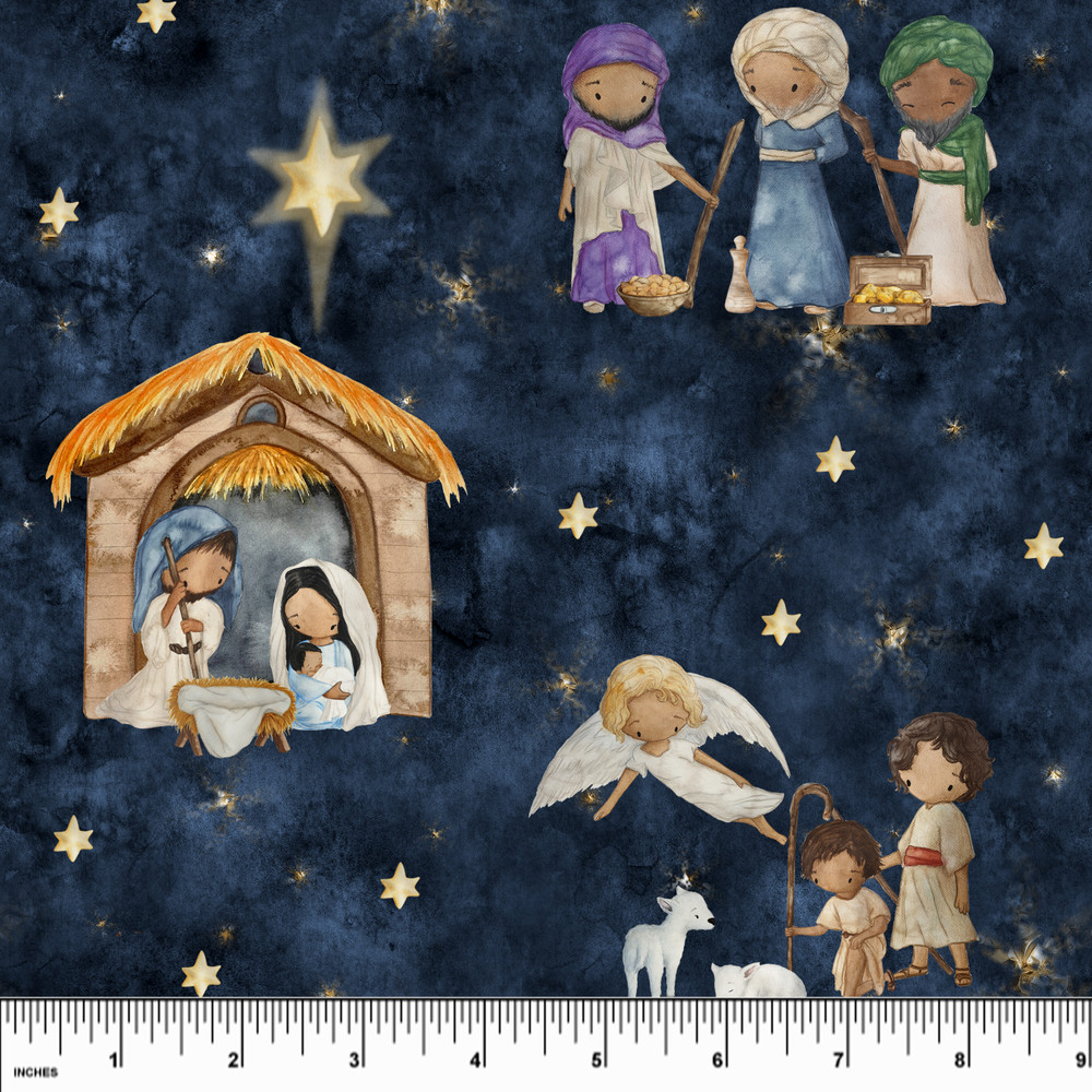 Custom Nativity Cotton Lycra Knit