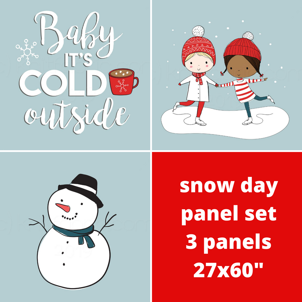 Snow Day Cotton Lycra Panel Set*