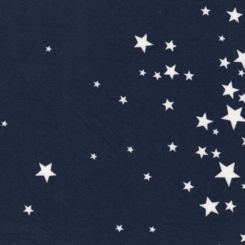 Stars on Navy Double Brushed Poly