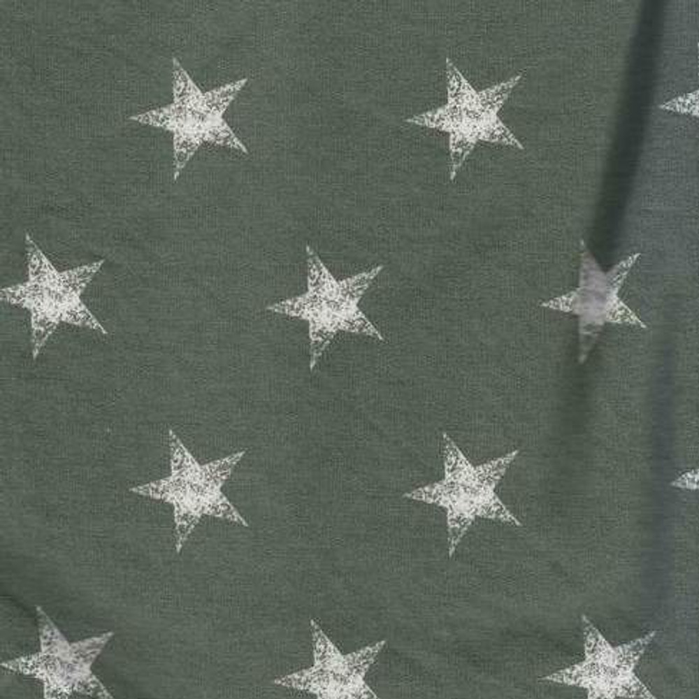 Stars on Sage French Terry Knit