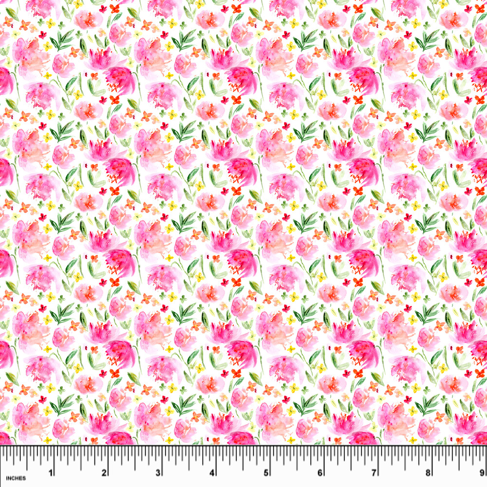Mini Spring Garden Double Brushed Poly
