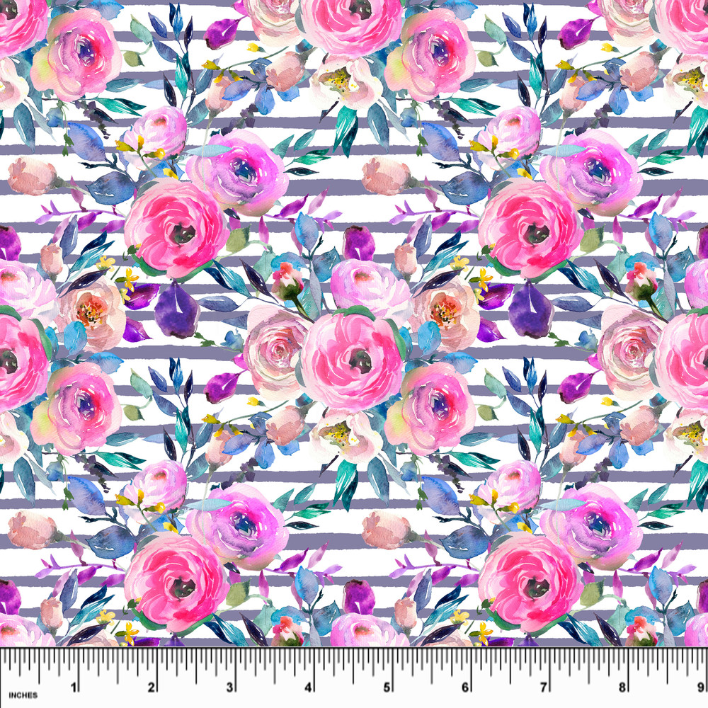 Peony Parade Double Brushed Poly
