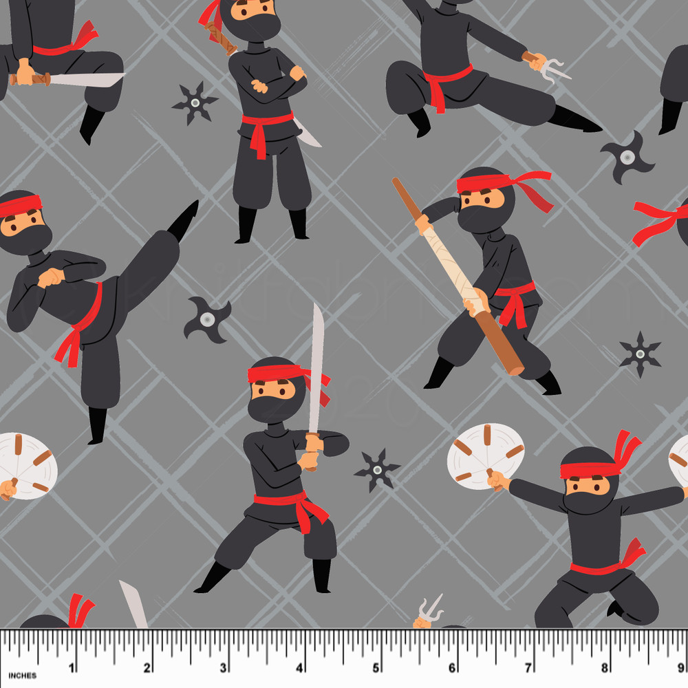Custom Ninjas Cotton Lycra Knit
