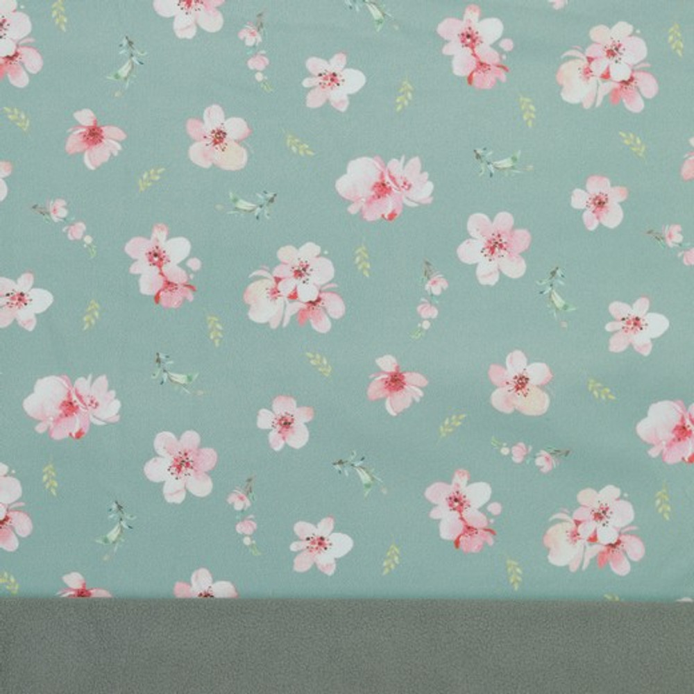 Cherry Blossoms on Mint Softshell