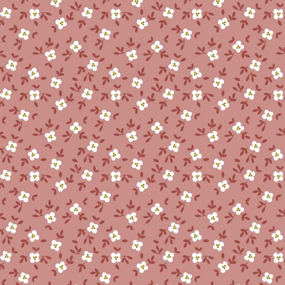 cute goose floral  on blush