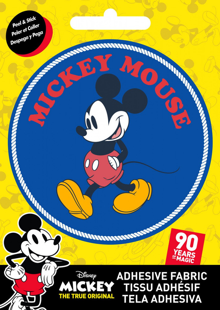 """Mickey Mouse Classic 3"""" Fabric Sticker"""