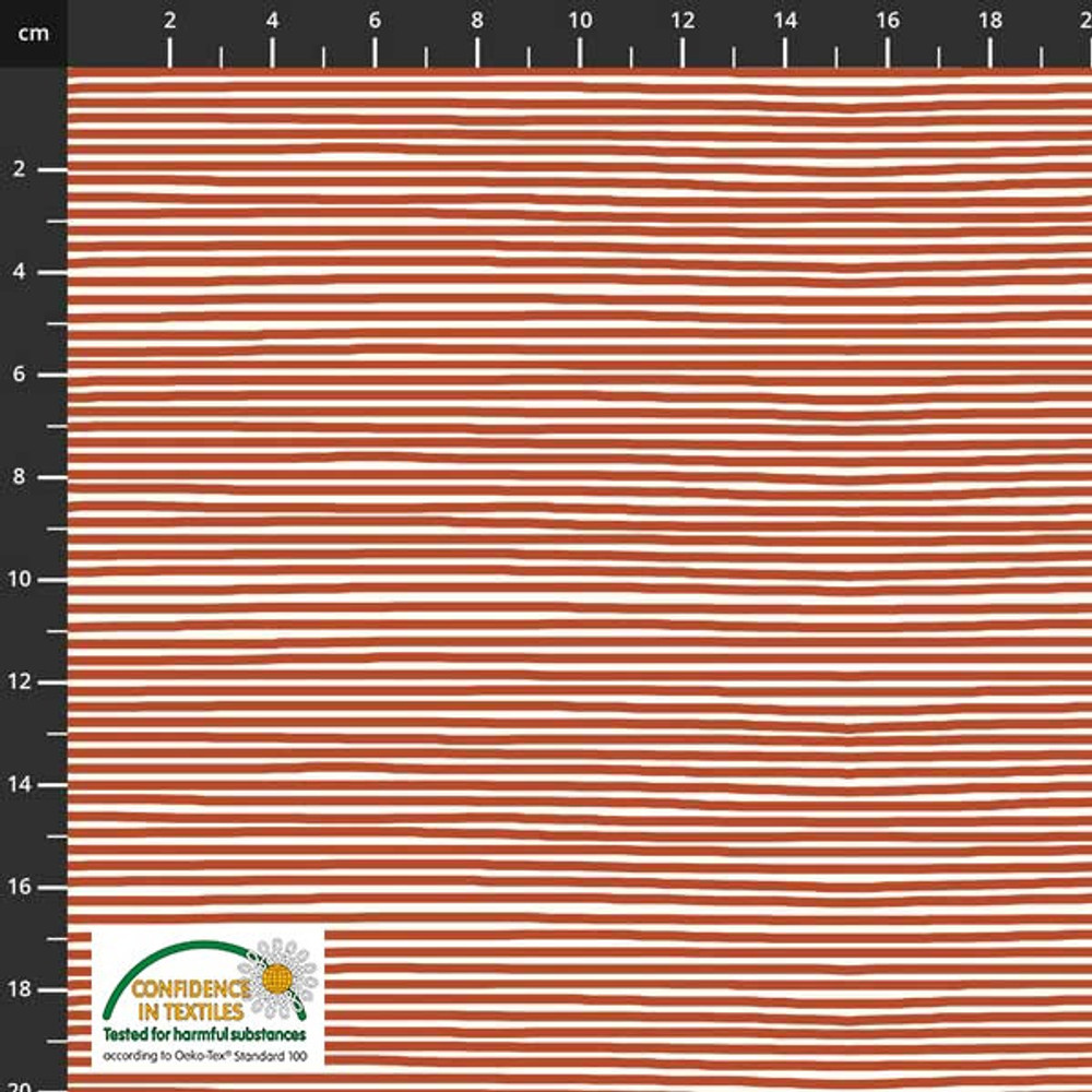 rust mini stripe