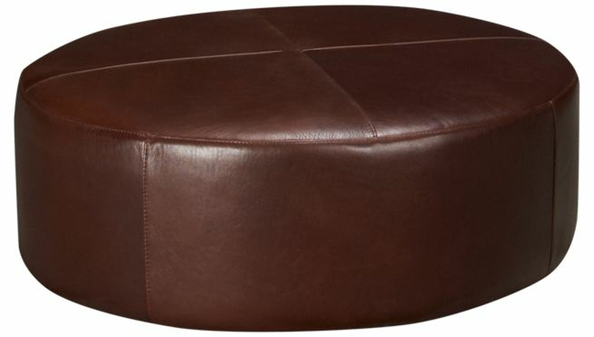 Round Leather Ottoman | Roy\'s Furniture Chicago | Designer ...