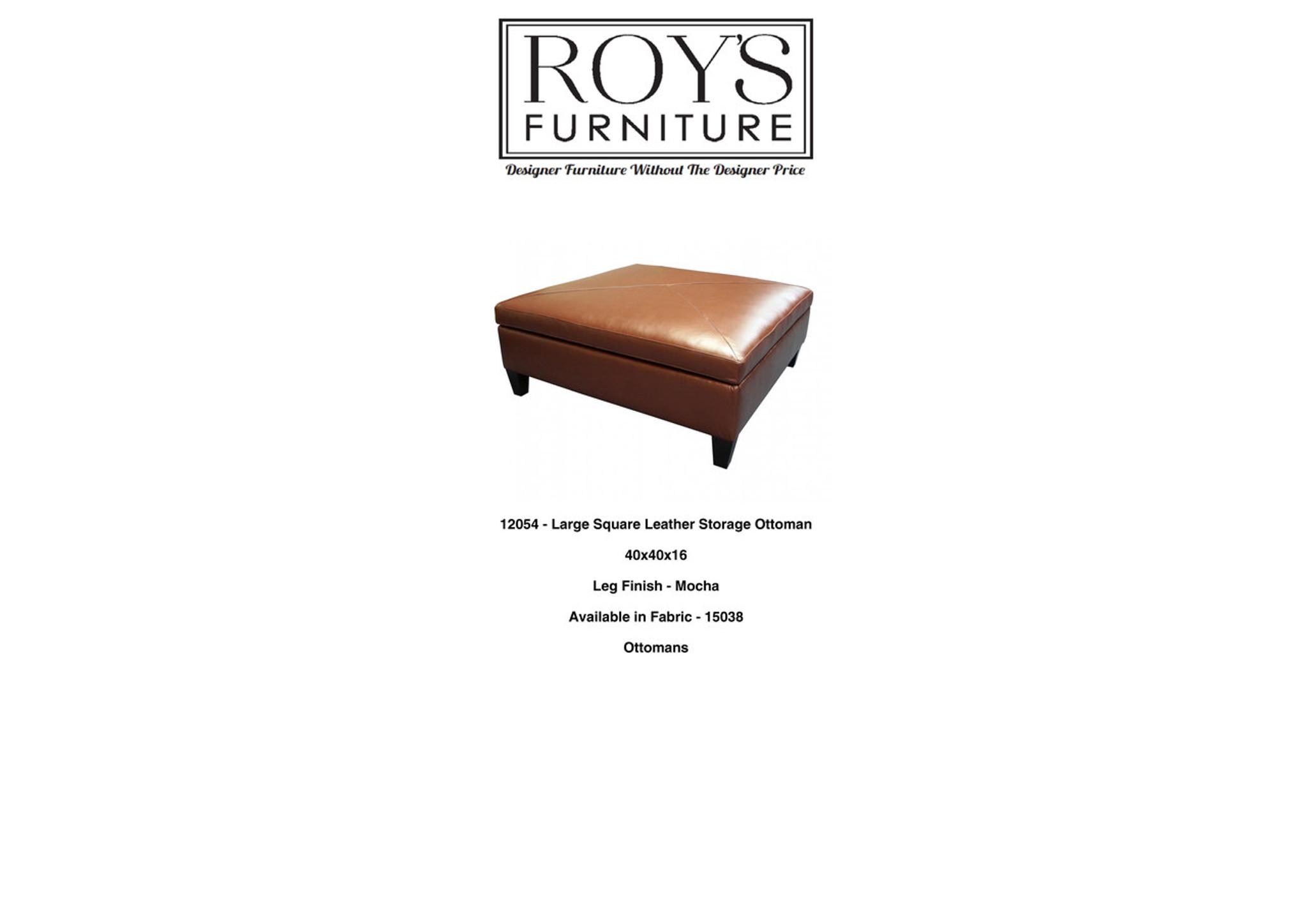 Peachy Leather Storage Ottoman Roys Furniture Chicago Designer Dailytribune Chair Design For Home Dailytribuneorg