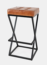 30323 Leather Stool