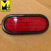 "6"" Red LED Oval Running and Stop Lamp with seal and harness"