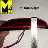 """4"""" x 1"""" Red LED Marker Lights with Bracket and Wire"""