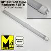 """T8-18TUBE-NW (F15T8) Natural White 18"""" T8 LED Tube Light 12v 4500k T8-120-3528-18-NW"""