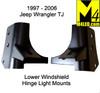 Jeep Wrangler TJ Lower Windshield Light Mounts